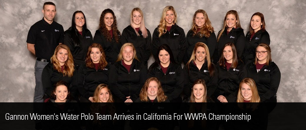 Gannon Women's Water Polo Team Arrives in California For WWPA Championship