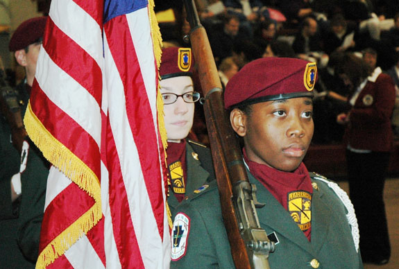 ROTC flag bearers