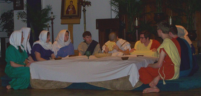 Update Last Supper- Living Stations 2014